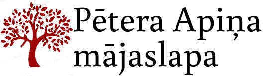 Pētera Apiņa mājaslapa